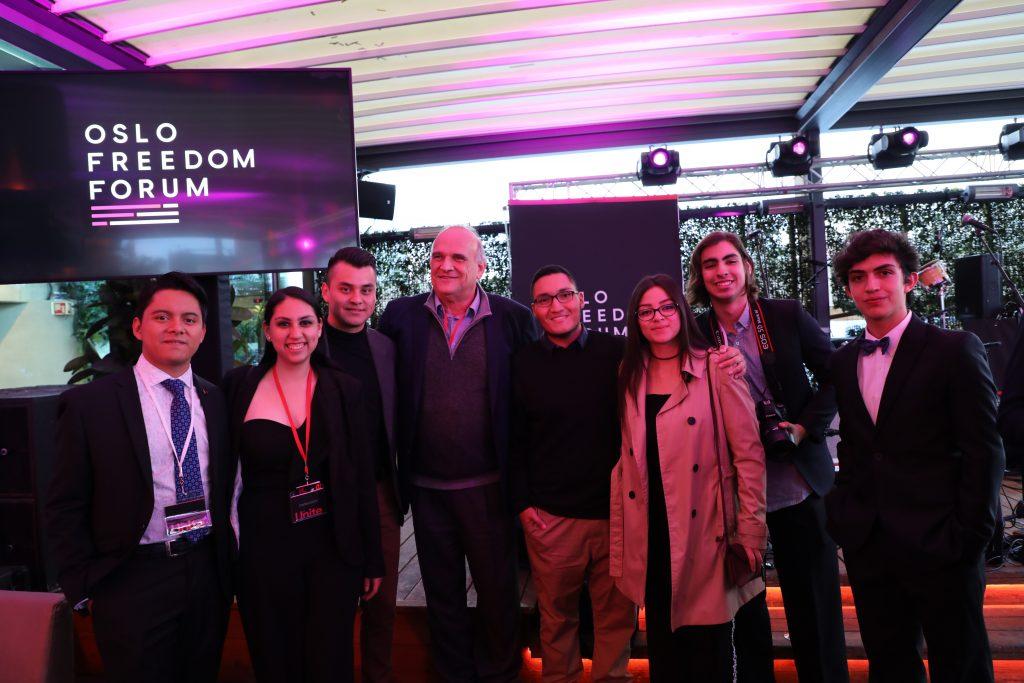 Estudiantes Cine en Oslo Freedom Forum